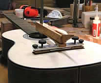 guitar frets-bridge