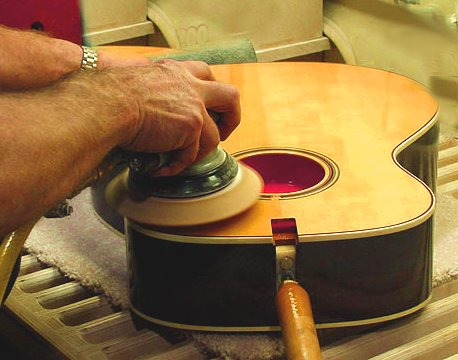 guitar making hand sanding